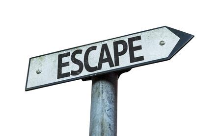 escape: Escape sign on white background