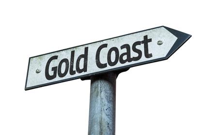 gold coast: Gold Coast sign on white background