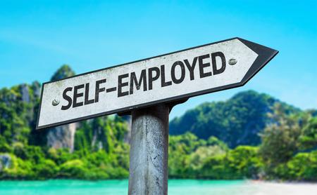selfemployed: Self-employed sign with wetland background