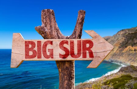 sur: Big Sur sign with outdoors background