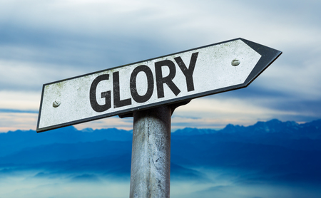 honour: Glory sign with sky background