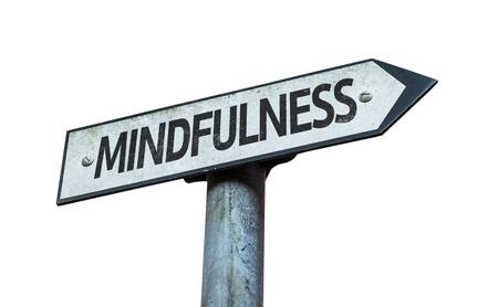 Mindfulness sign on white background