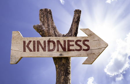 Kindness sign with arrow on sunny background Archivio Fotografico