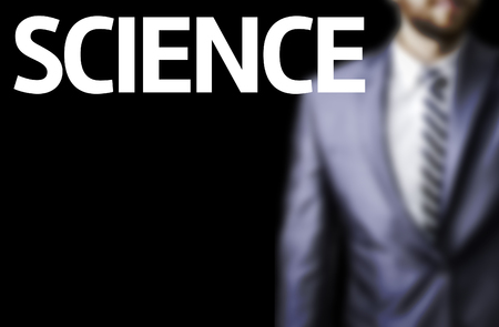 The word Science with businessman background Standard-Bild
