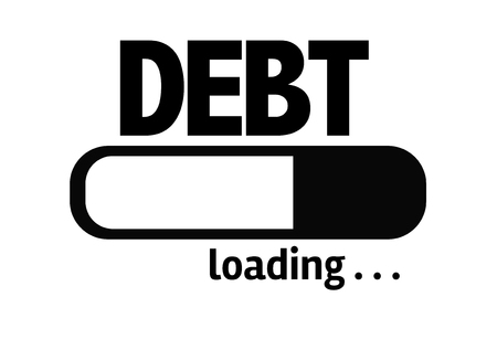 creditors: Progress bar loading with the text: Debt