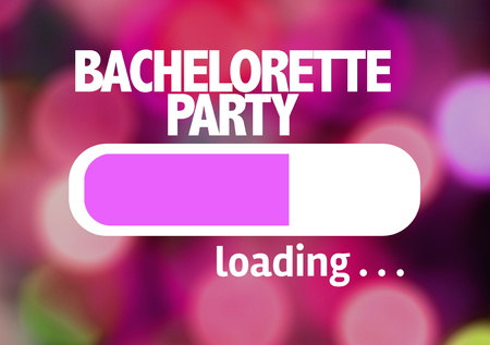 strip club: Progress bar loading with the text: Bachelorette party Stock Photo