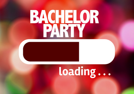 strip club: Progress bar loading with the text: Bachelor party