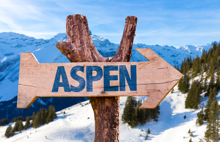 Aspen sign with outdoors background