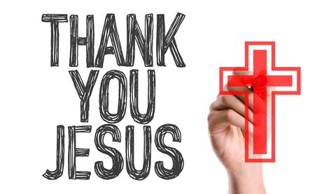 Escritura a mano sobre fondo blanco con texto: Gracias Jesús