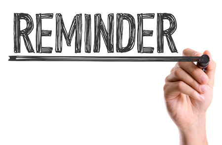 forgetfulness: Handwriting on white background with text: Reminder