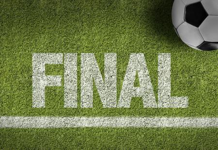 Text on soccer field: Final