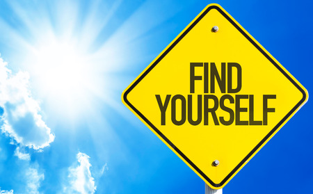Find yourself sign with sunny background