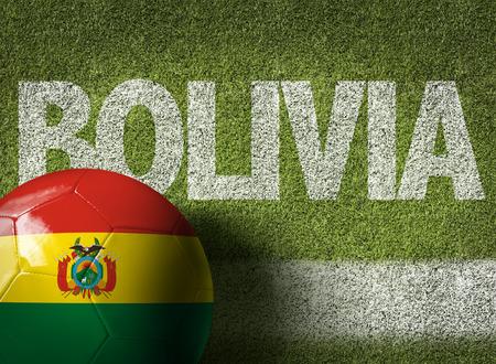 Texto en campo de fútbol: Bolivia