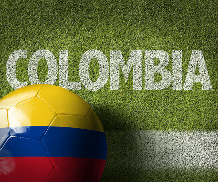 Text on soccer field: Colombia