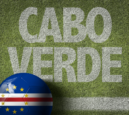 Text on soccer field: Cabo Verde