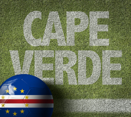 Text on soccer field: Cape Verde