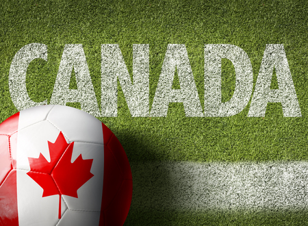field maple: Text on soccer field: Canada