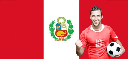 bandera de peru: ventilador del Perú celebra en Perú el fondo del indicador
