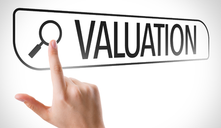 valuation: Finger pointing at search bar with Valuation