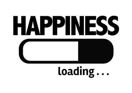 Voortgangsbalk het laden met de tekst Geluk