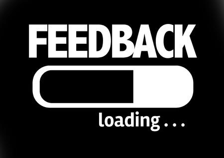 criticize: Progress bar loading with the text Feedback Stock Photo