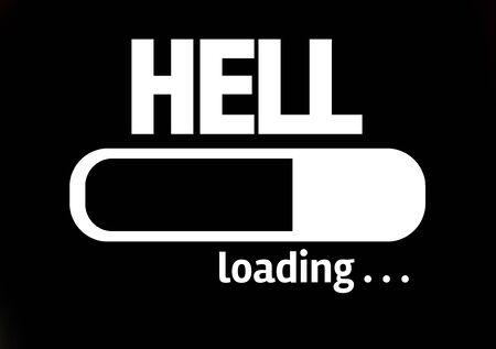 to hell: Barra de progreso de carga con el texto Infierno