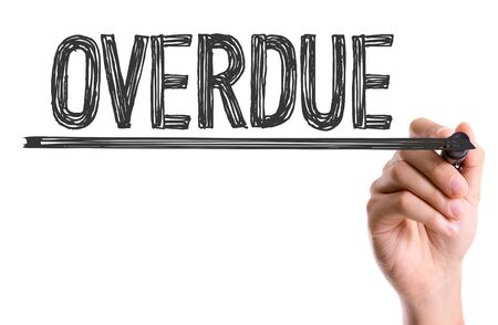overdue: Overdue written with a marker pen