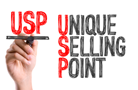 usp: USP (Unique Selling Point) written with a marker pen Stock Photo