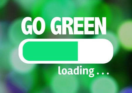 paperless: Progress bar loading with the text Go Green