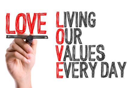 marker pen: Love acronym written with a marker pen Stock Photo