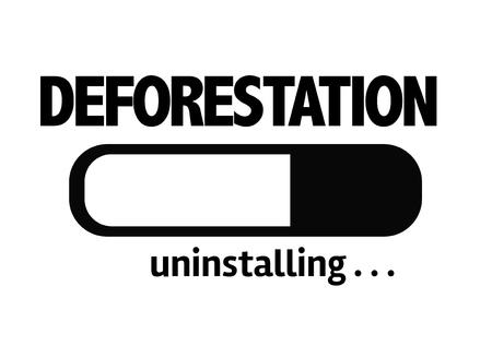 deforestacion: desinstalar la barra de progreso con la deforestaci�n de texto