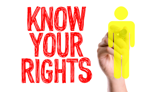Know your rights written with a marker pen