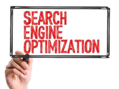 Search engine optimization written with a marker pen