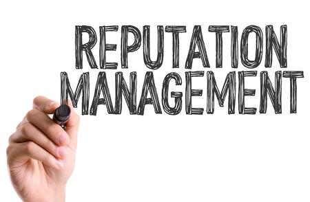 Reputation management written with a marker pen