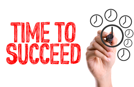 marker pen: Time to succeed written with a marker pen
