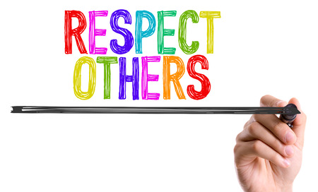 Respect others written with a marker pen Banco de Imagens
