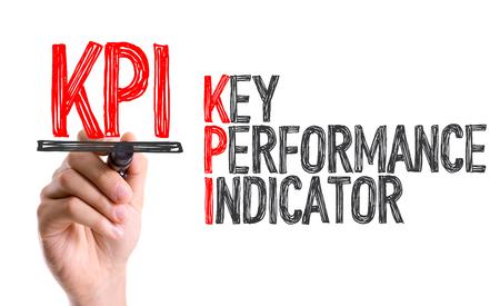 KPI (Key Performance Indicator) written with a marker pen Standard-Bild