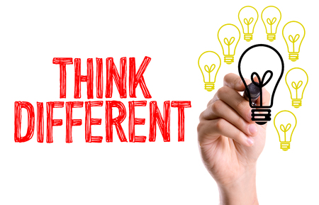 Think different written with a marker pen Stock Photo