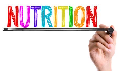 marker pen: Nutrition written with a marker pen