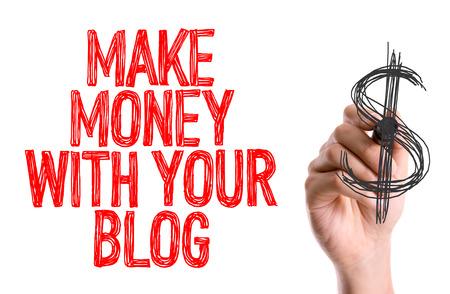 Maak geld met je blog geschreven met een markerpen