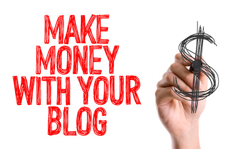 Make money with your blog written with a marker pen Stock Photo