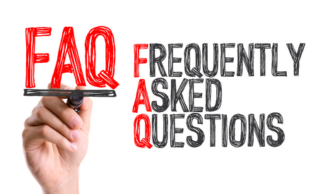 FAQ (Frequently Asked Questions) written with a marker pen
