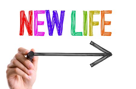 marker pen: New life written with a marker pen