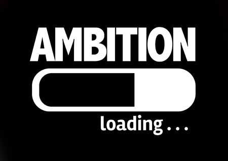 ambition: Progress bar loading with the text Ambition