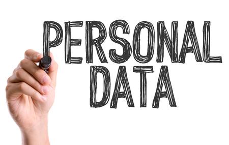 marker pen: Personal data written with a marker pen