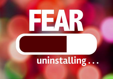 unafraid: Progress bar uninstalling with the text Fear