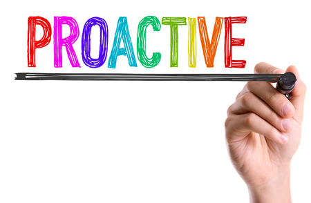 proactive: Proactive written with a marker pen Stock Photo