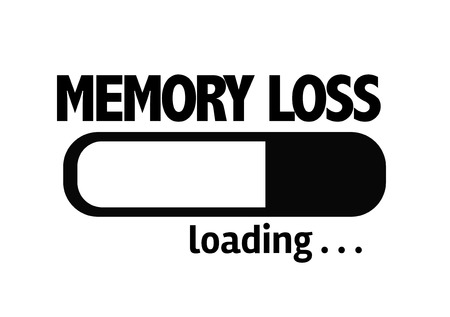 brain aging: Progress bar loading with the text Memory Loss Stock Photo
