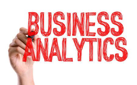 estimating: Business analytics written with a marker pen