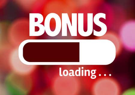 Progress bar loading with the text Bonus